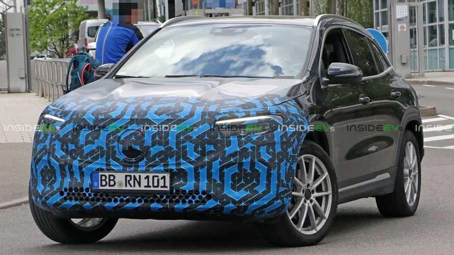 See Mercedes-Benz EQA Prototype Strutting Its Stuff With Only Fascias Covered