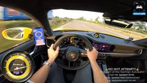 porsche 911 turbo s autobahn max speed