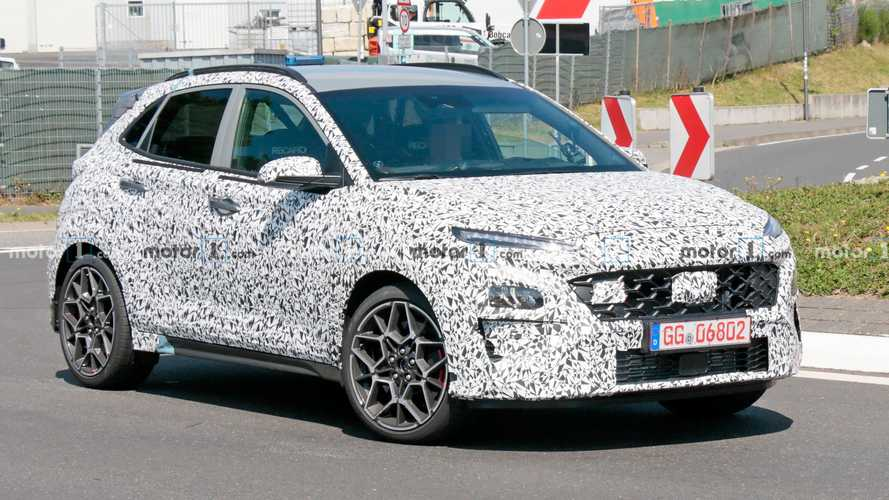 Hyundai Kona N spied shedding some camouflage at Nurburgring