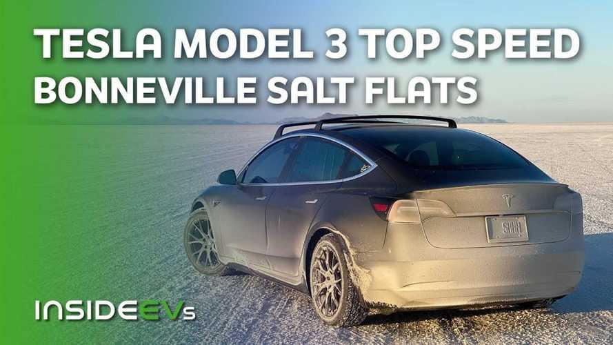Chasing Top Speed: Tesla Model 3 Performance On Bonneville Salt Flats