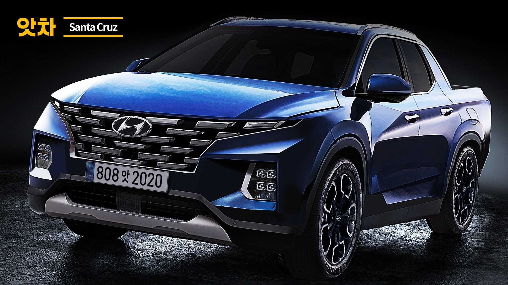 2021 - [Hyundai] Pickup  - Page 2 2021-hyundai-santa-cruz-rendering-in-blue
