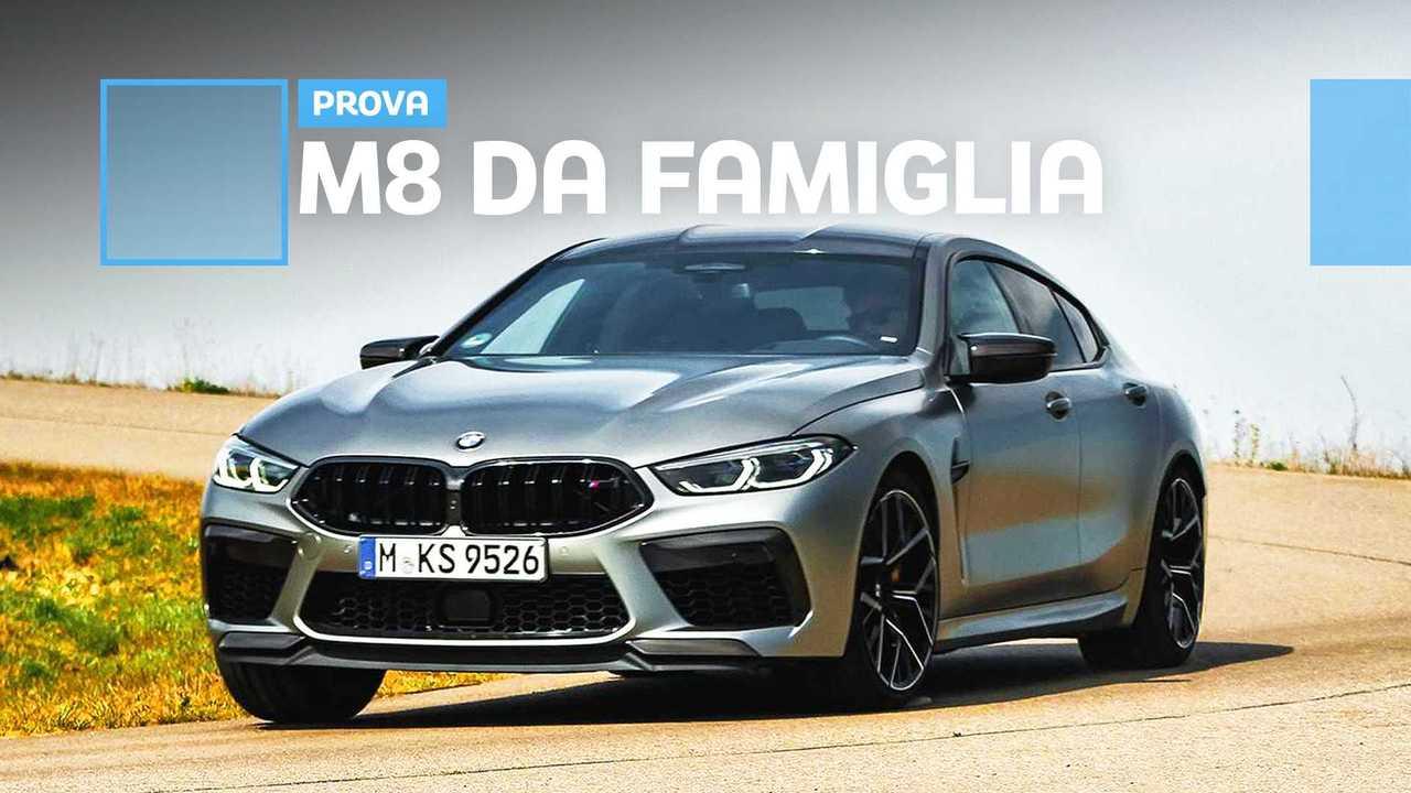 BMW M8 Gran Coupé Competition, la prova