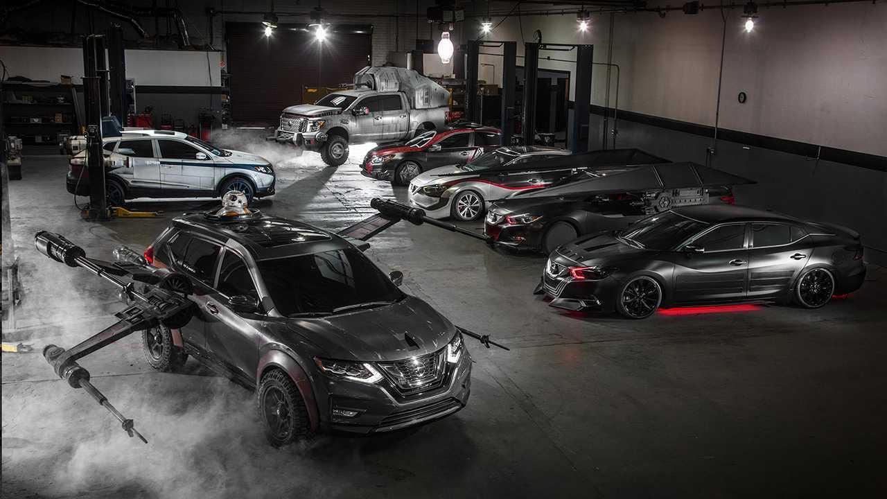 Линейка шоу-каров Nissan