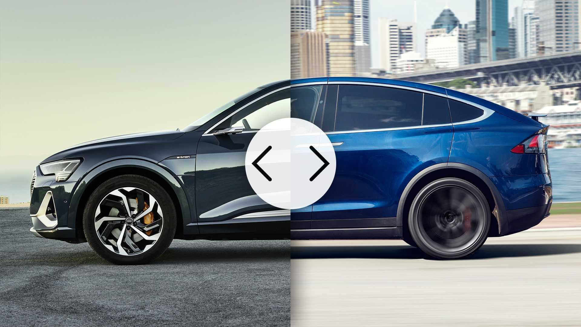 Piastre Di Tesla Funzionano audi e-tron sportback, più aerodinamica di una tesla model x?