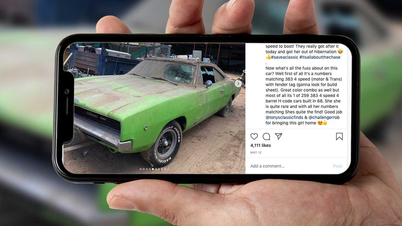 1968 Dodge Charger Barn Find