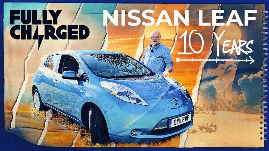 Fully Charged Reviews Nissan LEAF After 10 Years: Range Drop Is Significant