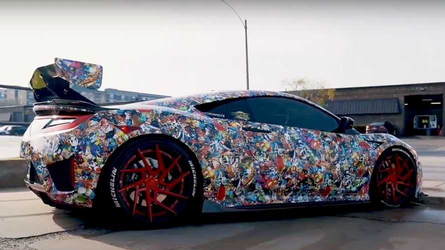 Acura NSX Owner Relives Childhood With Insane Custom Wrap