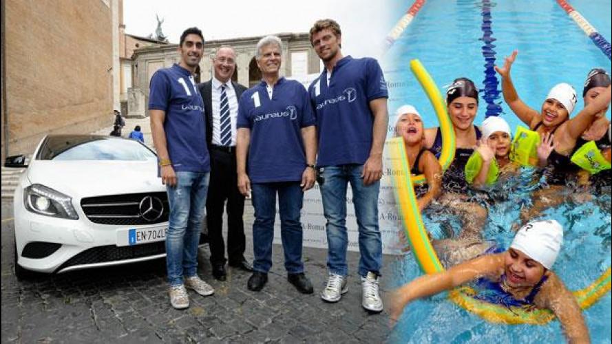 """""""A-Roma"""", Mercedes è ambasciatrice di solidarietà insieme a Filippo Magnini"""
