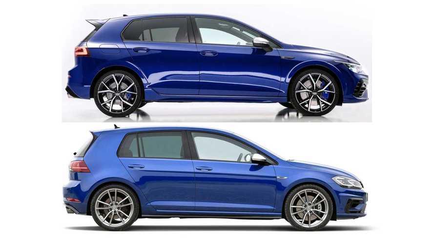 Comparatif entre les VW Golf 8 R et Golf 7 R
