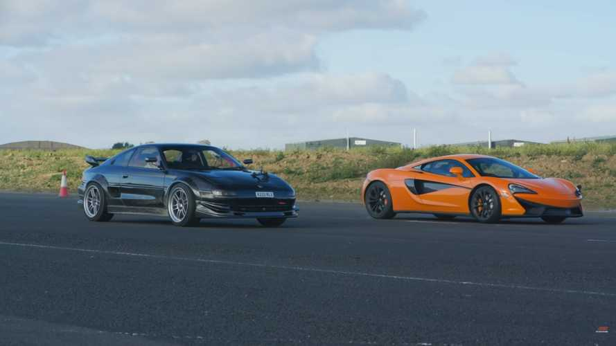Modified Toyota MR2 Fights Stock McLaren 540C In Mid-Engine Drag Race