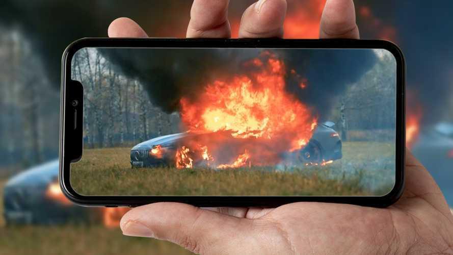 Cliente deluso brucia la sua Mercedes-AMG, l'assurdo video dalla Russia