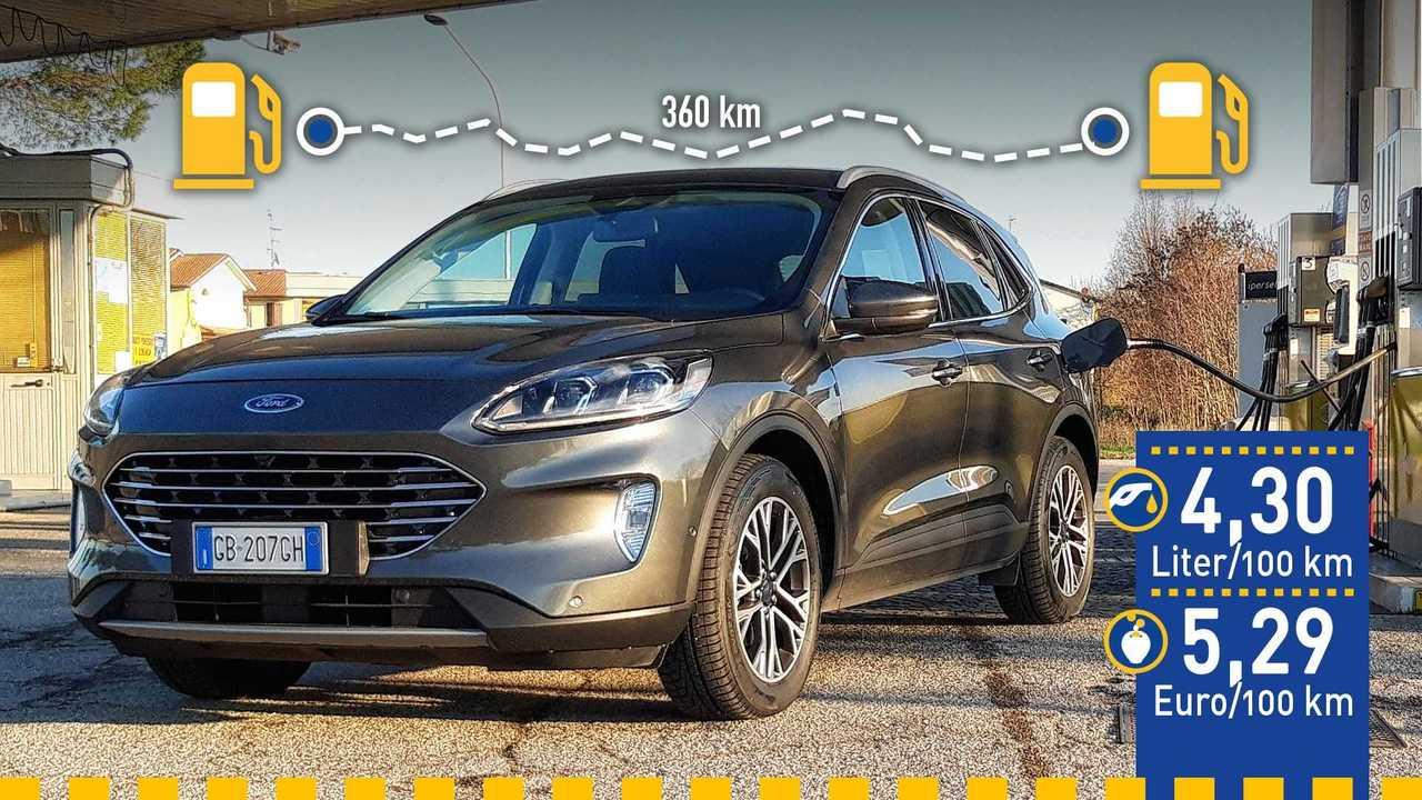 Ford Kuga 2.0 EcoBlue Hybrid (2020) im Verbrauchstest
