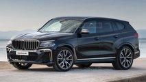 BMW X8 (2021): Rendering zeigt bizarre Scheinwerfer-Lösung