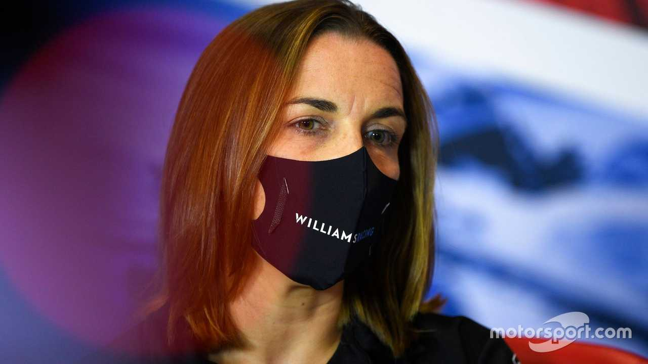 Claire Williams at 70th Anniv GP at Silverstone 2020