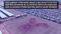 Largest tire mark image world record