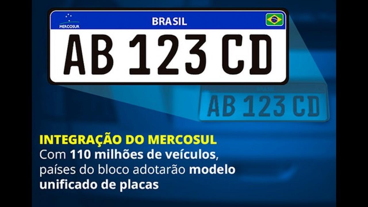 Contran prorroga implantação das placas padrão Mercosul para 2017