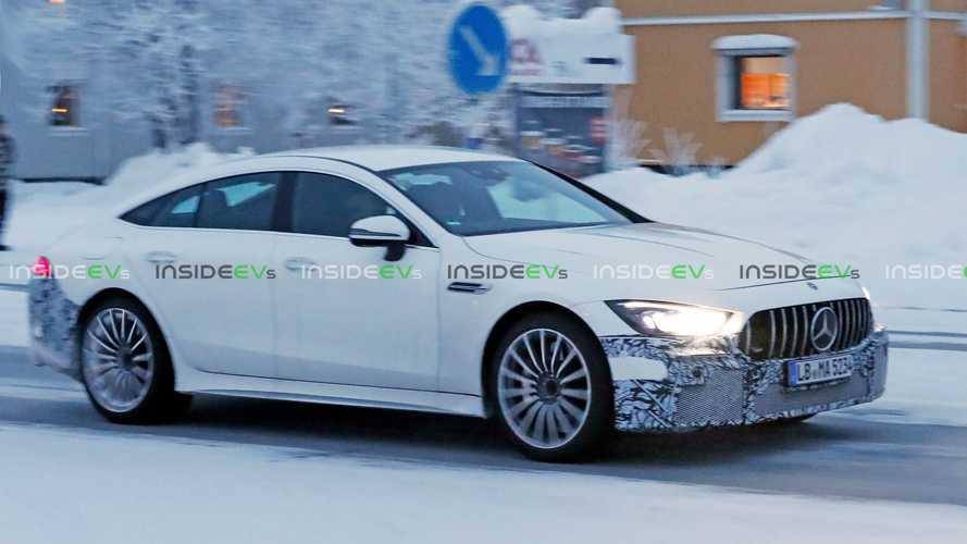 Mercedes-AMG GT73e Plug-In Hybrid Spied Testing In The Snow