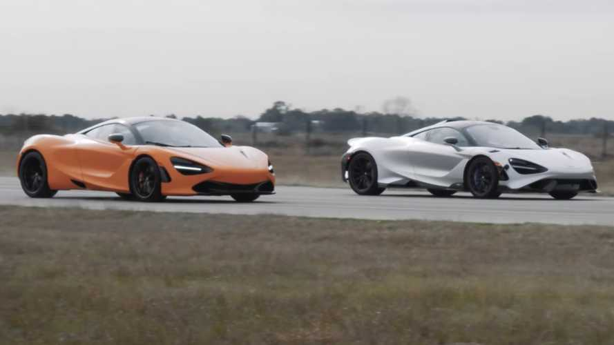 Watch Hennessey drag race McLaren 765LT against 720S