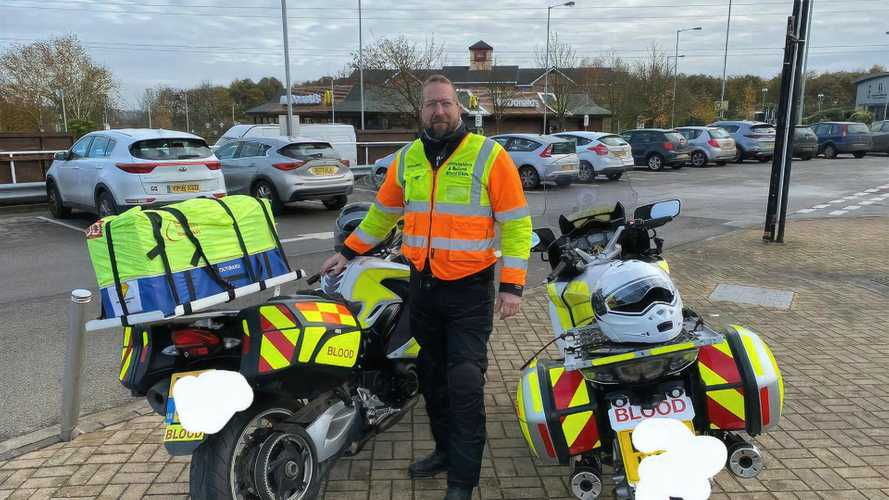 Avon donated fresh new tyres to UK Blood Bikers in 2020