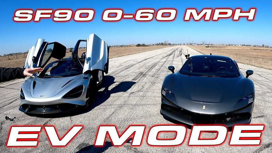 Ferrari SF90 Stradale 0-60 MPH Time In EV Mode Is Beat By Nissan LEAF