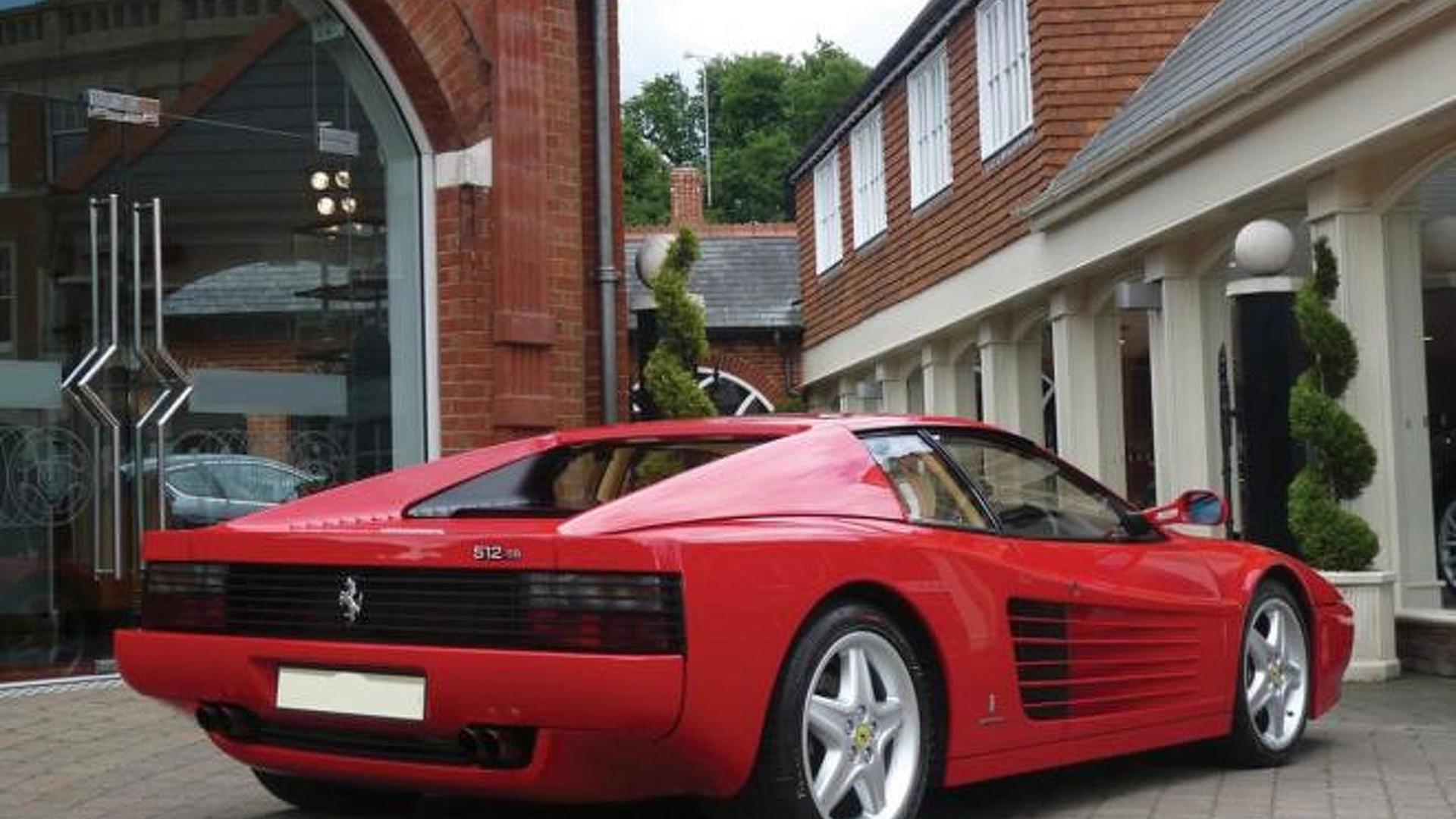 1991 Ferrari 512 TR formerly owned by Sir Elton John will be