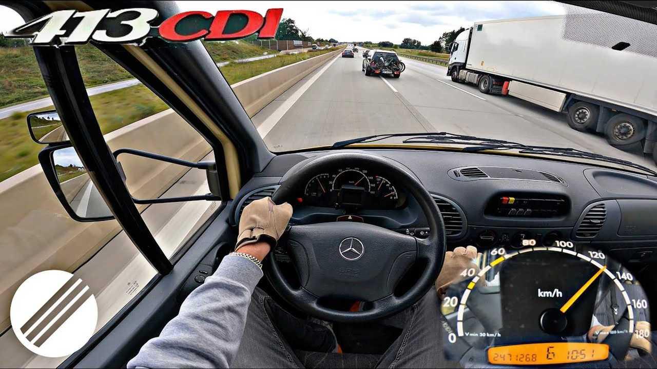 2003 Mercedes Sprinter CDI on the Autobahn