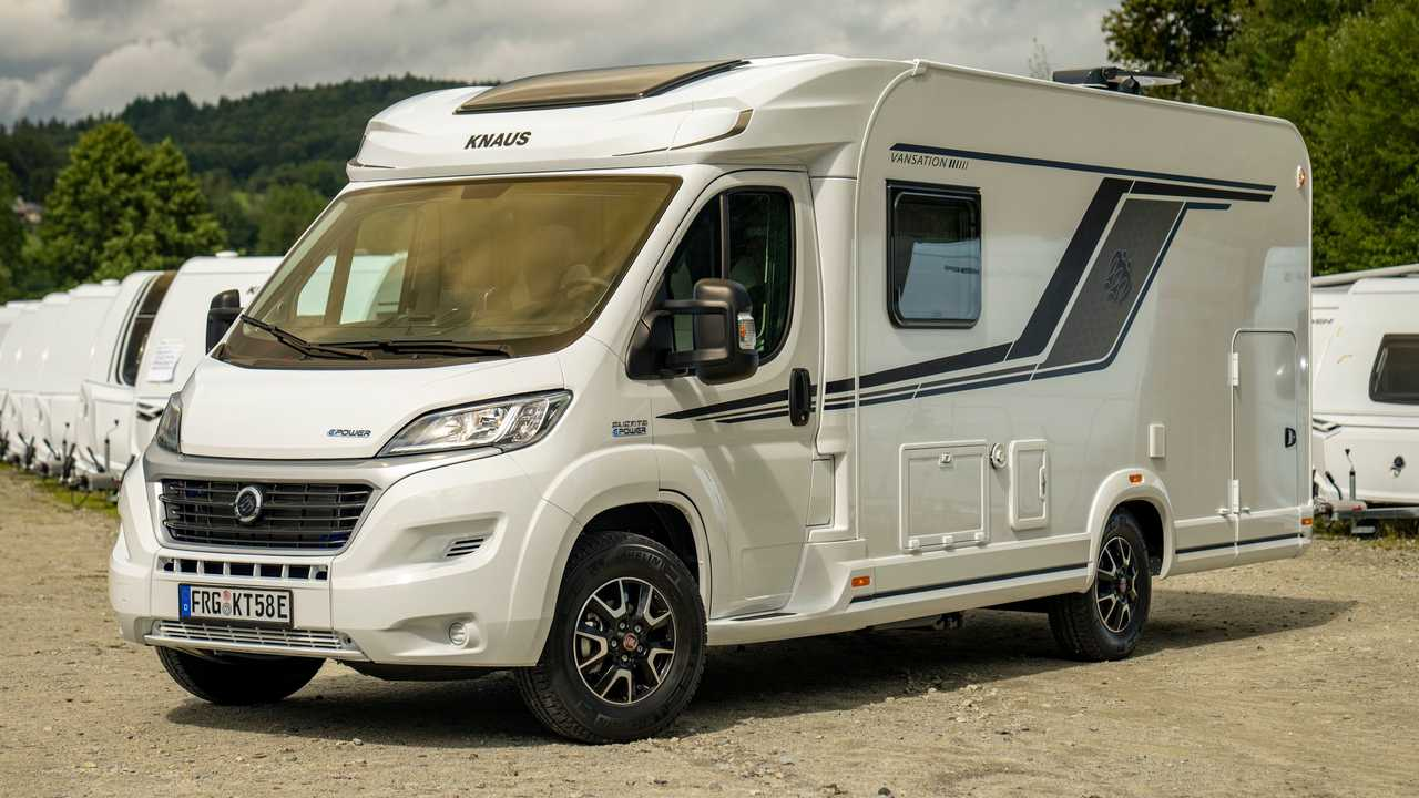Knaus E.Power Drive electric motorhome features a rotary engine as a range extender for the electric powertrain.