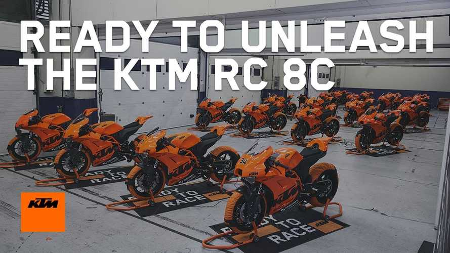 KTM Delivers First 25 Ultra-Limited RC 8C Sportbikes To Customers