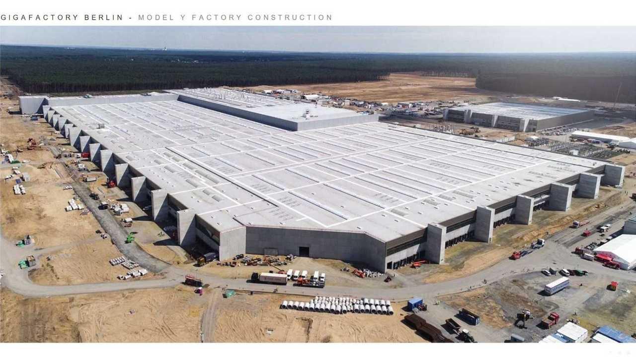 Tesla Giga Berlin (Gigafactory 4) - Model Y factory construction (Tesla Q2 2021 report)