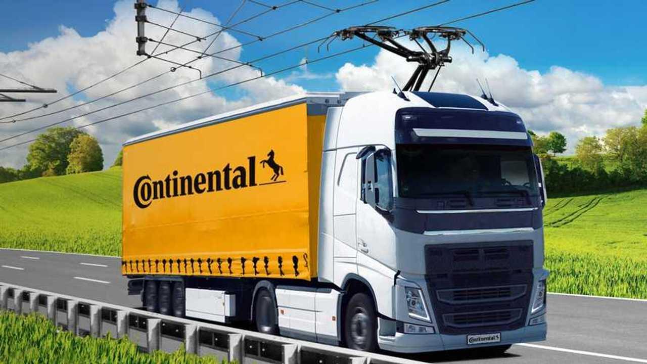 Continental und Siemens entwickeln Stromabnehmer für Lkw