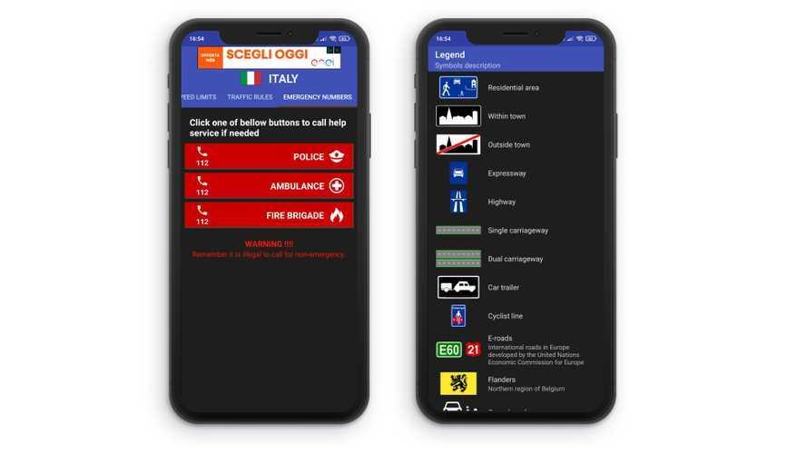 Come funziona l'app Speed Limits Europe