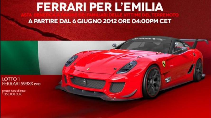 L'asta Ferrari per il terremoto in Emilia parte alle 16:00