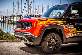 'Hell's Revenge' is a Fiery Jeep Tribute to Harley-Davidson