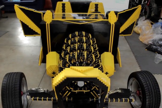 car made from 500000 legos runs on compressed air video