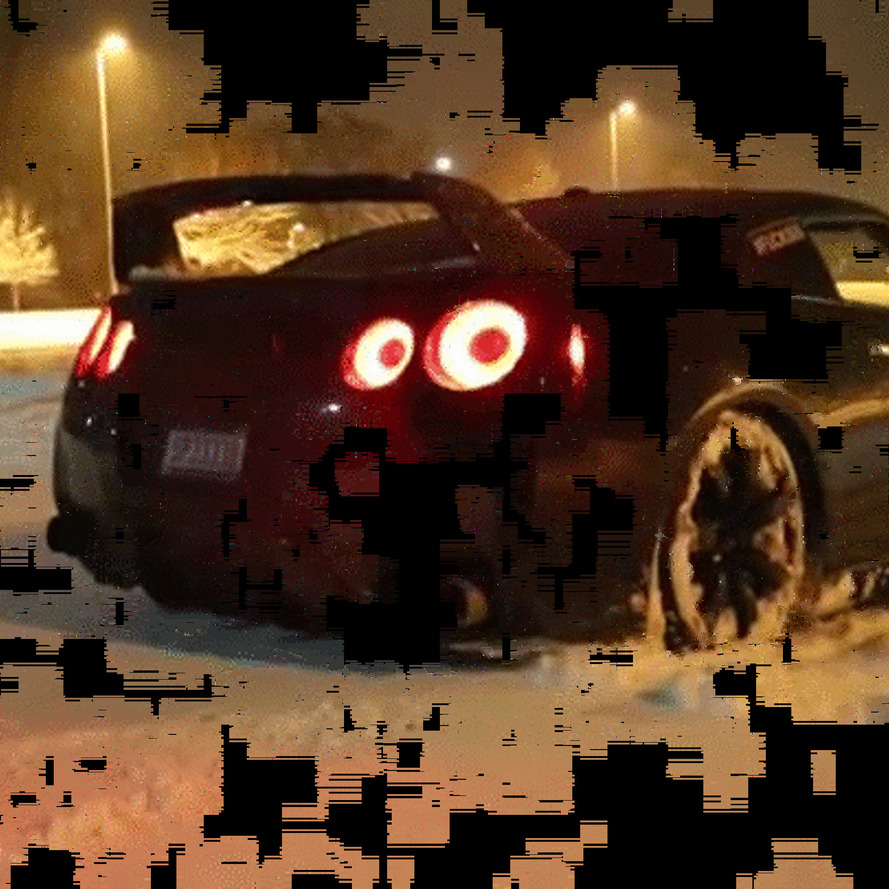 The Best Way to Clear Snow is a Flame-Throwing Nissan GT-R