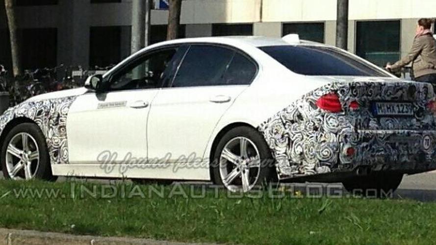 BMW 3-Series facelift spy photo / IndianAutosBlog