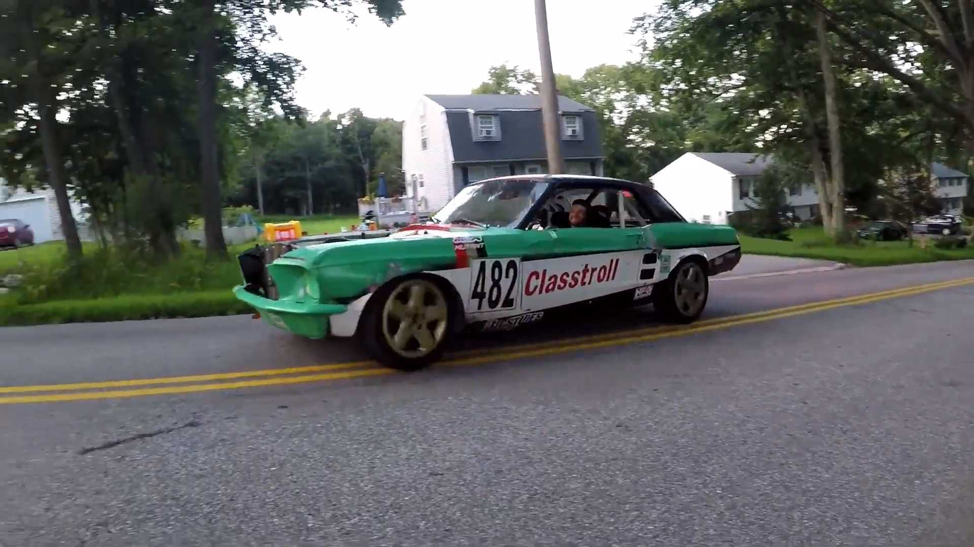 Bonkers Mid-Engined Ford Mustang Racer Has A Honda Odyssey