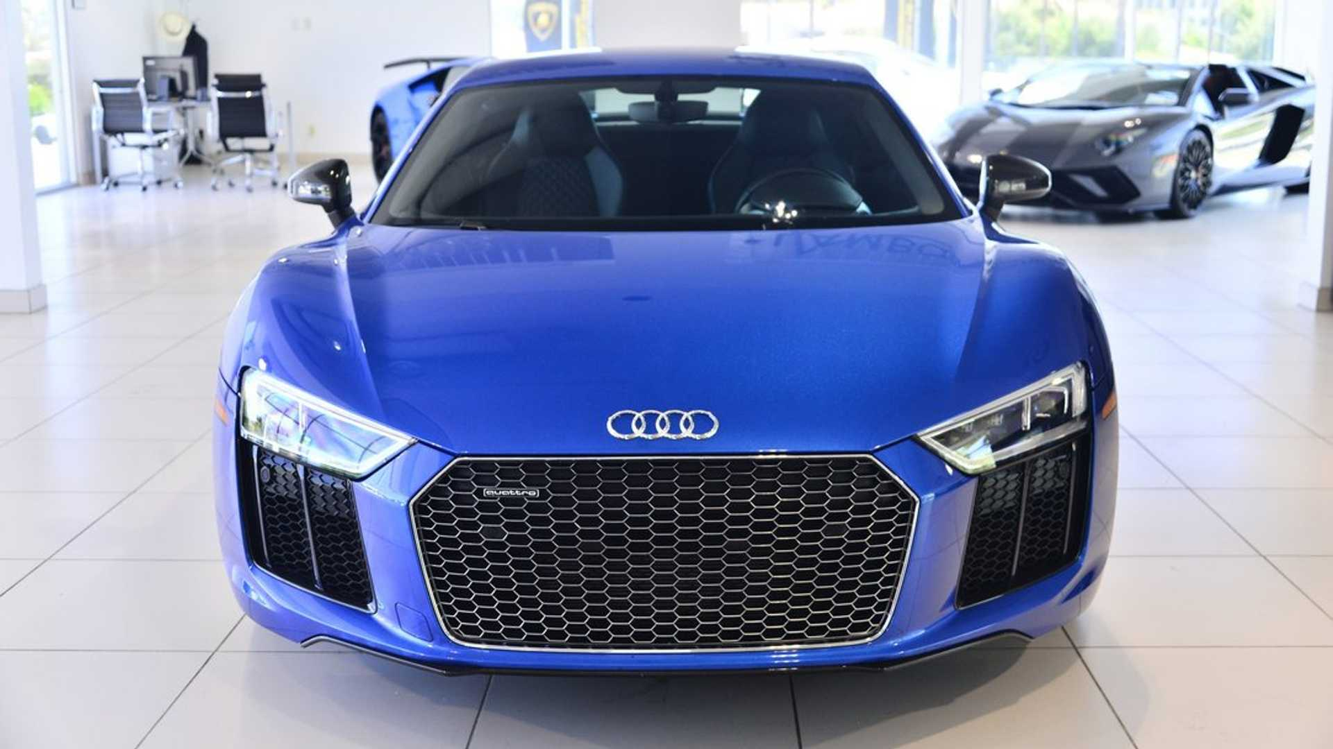 """[""""Immaculate 2017 Audi R8 Will Clear Up Your Blues""""]"""