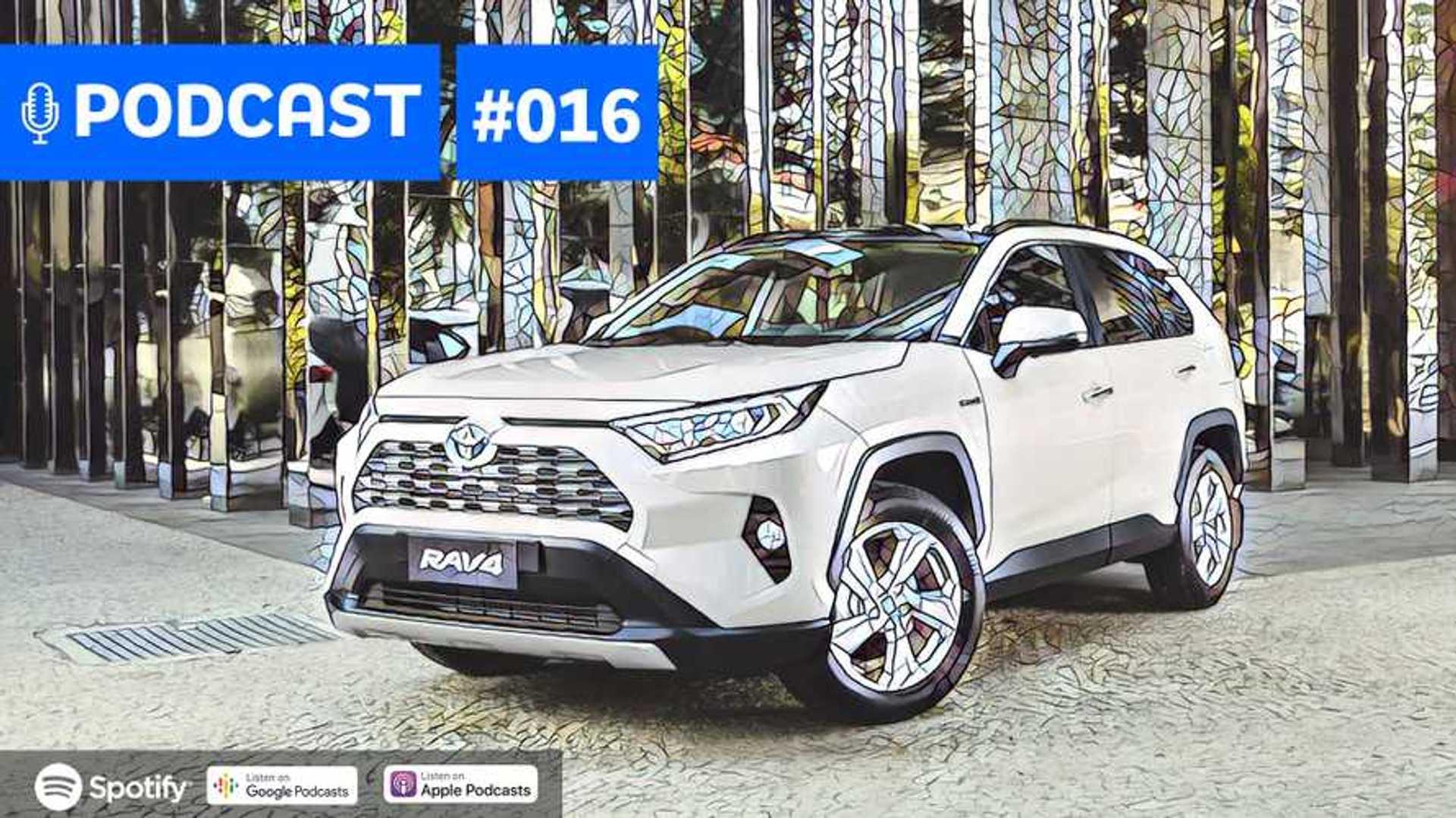 Motor1.com Podcast #016: Novos Fiat e Jeep turbo, RAV4 híbrido
