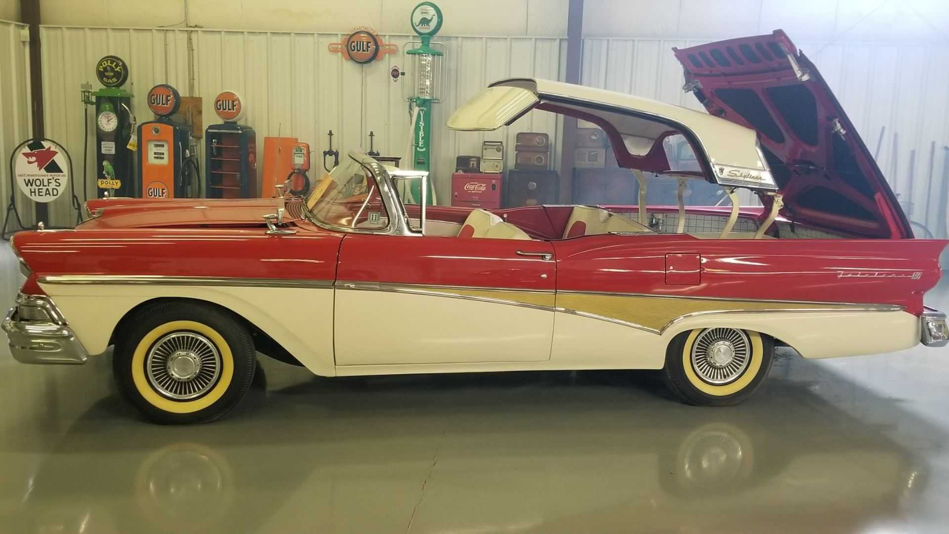 "[""1958 Ford Fairlane Skyliner Is A Graceful Convertible Hardtop""]"