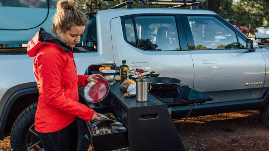 Rivian R1T electric camper truck debuts at Overland Expo