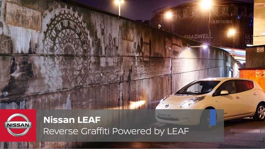 "Nissan LEAF Powers ""Reverse Graffiti"" In London (w/video)"