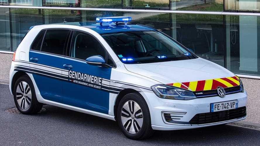 Des Volkswagen e-Golf pour la gendarmerie française