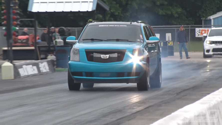 Twin-Turbo Cadillac Escalade Drag Racer
