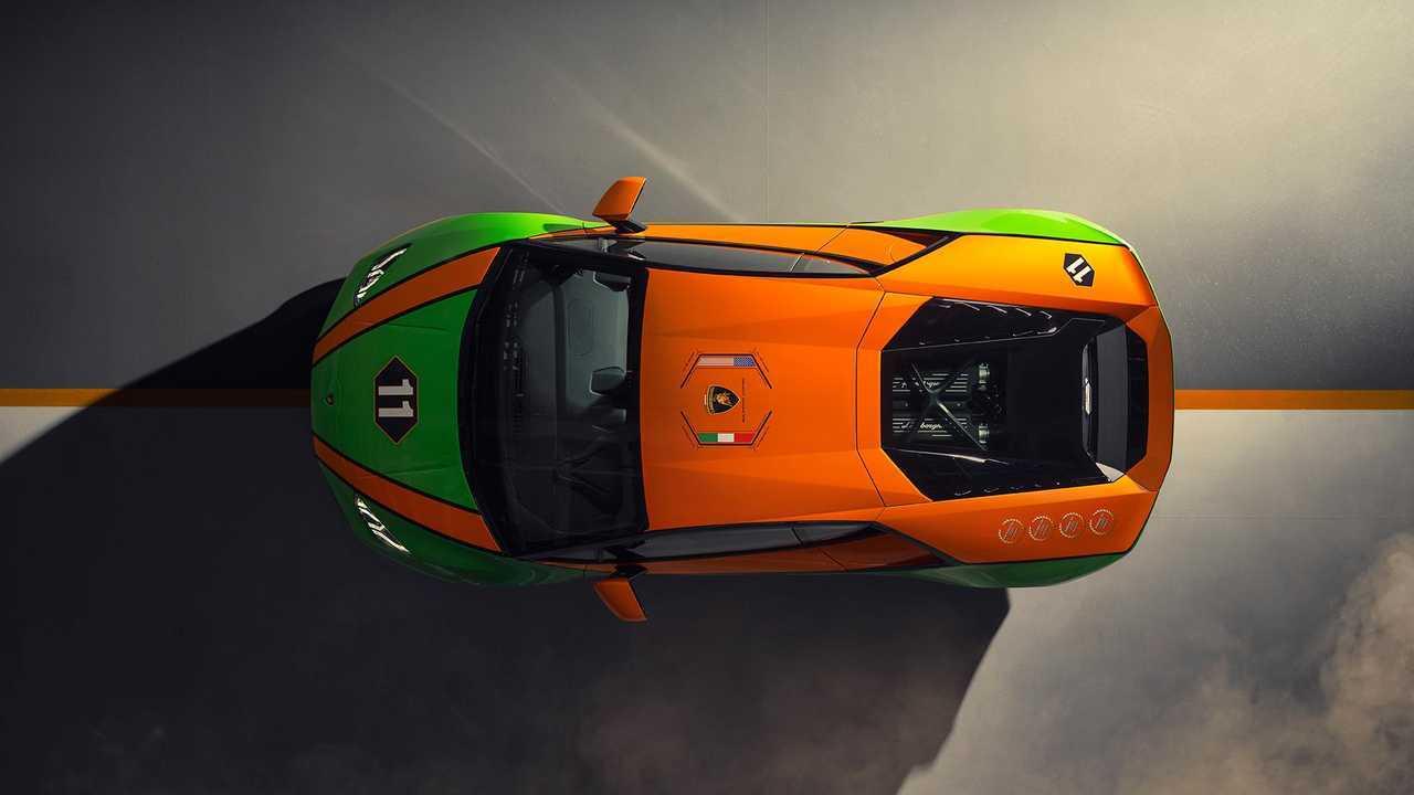 Celebrazione della Lamborghini Huracan Evo GT