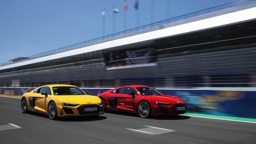 El Audi R8 2019, a prueba, en el circuito de Jerez