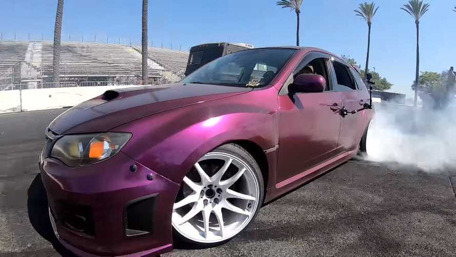 This Rear-Wheel-Drive Subaru WRX Is A Smokey Drift Machine