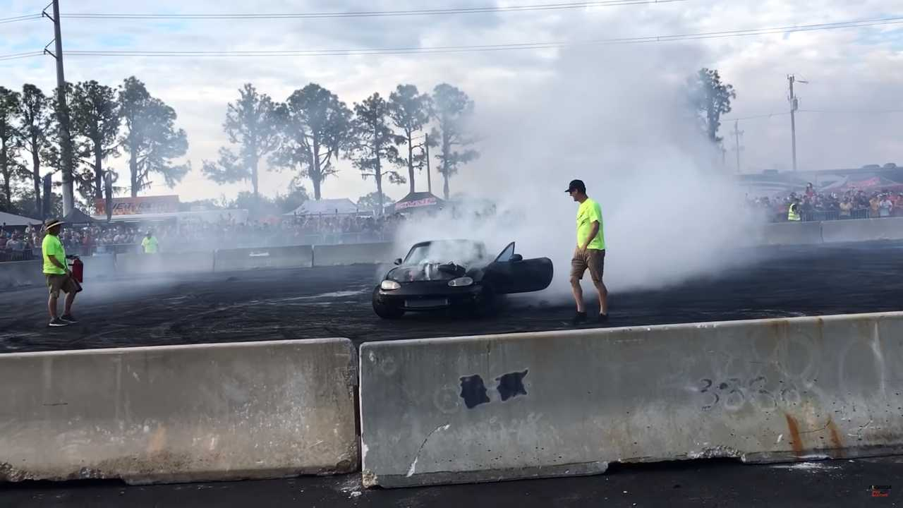 Hellcat Swapped Miata Burnout