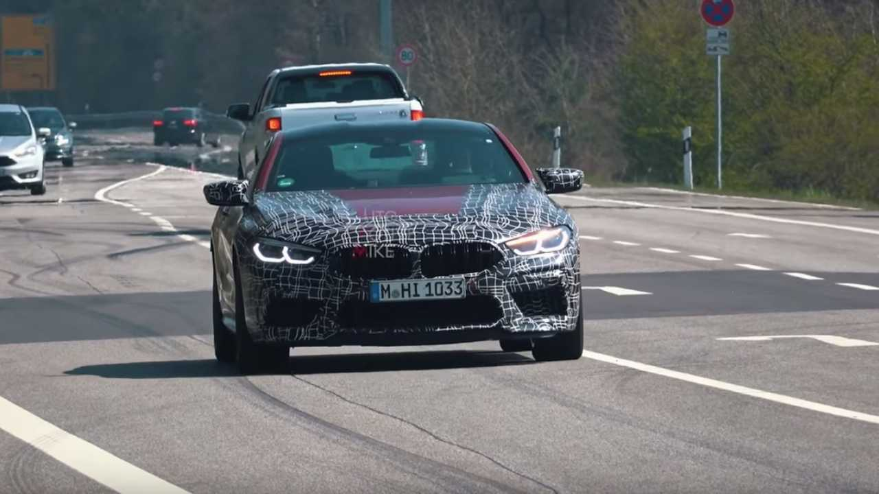 BMW M8 kémfotók