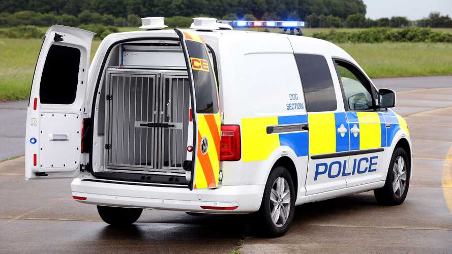 Volkswagen Caddy police dog van
